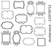 vector set of unfilled doodle... | Shutterstock .eps vector #123978712