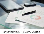 financial paper charts and... | Shutterstock . vector #1239790855