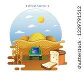 flat farm landscape... | Shutterstock .eps vector #1239791512