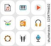 audio icons flat style set with ...   Shutterstock . vector #1239794602