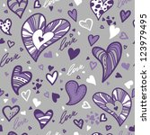 romantic seamless pattern with... | Shutterstock .eps vector #123979495