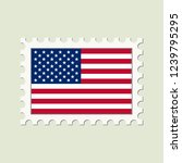 vector usa flag postage stamp | Shutterstock .eps vector #1239795295