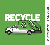 recycle garbage pickup truck...   Shutterstock .eps vector #1239795838