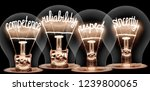 photo of light bulbs with... | Shutterstock . vector #1239800065