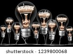 photo of light bulb with... | Shutterstock . vector #1239800068