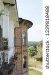 windows of abandoned castle in... | Shutterstock . vector #1239818488