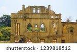 windows of abandoned castle in... | Shutterstock . vector #1239818512