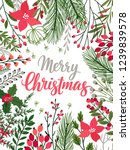 christmas callygraphic card  ... | Shutterstock .eps vector #1239839578