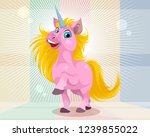 vector illustration of a pink... | Shutterstock .eps vector #1239855022