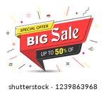 banner  sale banner template in ... | Shutterstock .eps vector #1239863968