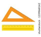school instruments  rulers set. ... | Shutterstock . vector #1239868162