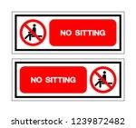 no sitting symbol sign  vector... | Shutterstock .eps vector #1239872482