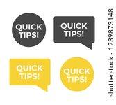 quick tips helpful tricks...   Shutterstock . vector #1239873148