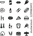 solid black vector icon set   a ... | Shutterstock .eps vector #1239883492