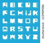 decorative alphabet. square... | Shutterstock .eps vector #123989086