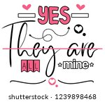 yes they are all mine. girl t... | Shutterstock . vector #1239898468
