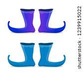 vector blue christmas elf shoes ... | Shutterstock .eps vector #1239915022