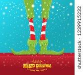 vector creative merry christmas ... | Shutterstock .eps vector #1239915232