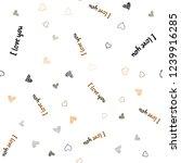 dark orange vector seamless... | Shutterstock .eps vector #1239916285