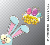 happy easter bunny with... | Shutterstock .eps vector #1239917182