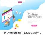 isometric flat vector landing... | Shutterstock .eps vector #1239925942