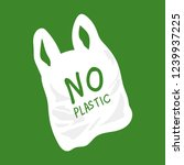 no plastic bag concept  save... | Shutterstock .eps vector #1239937225