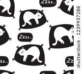sleeping cats  hand drawn... | Shutterstock .eps vector #1239937288