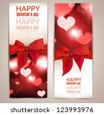 beautiful greeting cards with... | Shutterstock .eps vector #123993976