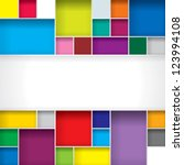 Abstract Color Boxes Background ...