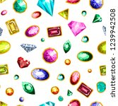 gems and diamonds  precious... | Shutterstock .eps vector #1239942508