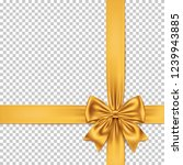 golden gift bow and ribbon... | Shutterstock .eps vector #1239943885