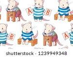 seamless pattern   funny... | Shutterstock . vector #1239949348