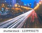 road traffic at night | Shutterstock . vector #1239950275
