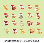 Stock vector  fox 123995365