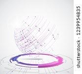 vector digital global... | Shutterstock .eps vector #1239954835