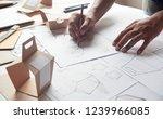 designer sketching drawing... | Shutterstock . vector #1239966085