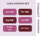 coupon book for boyfriend.... | Shutterstock .eps vector #1239998212