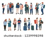 set of people traveling in... | Shutterstock .eps vector #1239998398