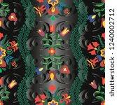 hungarian stylized seamless... | Shutterstock .eps vector #1240002712