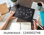 organisational structure ... | Shutterstock . vector #1240002748