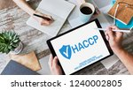 haccp   hazard analysis and...   Shutterstock . vector #1240002805