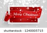 merry christmas.red banner.... | Shutterstock .eps vector #1240005715