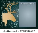 christmas  a picture of a deer ... | Shutterstock .eps vector #1240007692