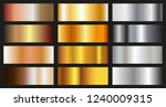 set of metallic gradients... | Shutterstock .eps vector #1240009315