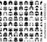 black and white seamless... | Shutterstock .eps vector #1240011652
