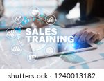 sales training  business... | Shutterstock . vector #1240013182