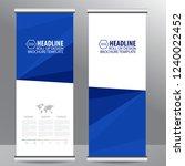 blue roll up business brochure... | Shutterstock .eps vector #1240022452