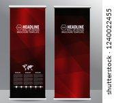 roll up business brochure flyer ... | Shutterstock .eps vector #1240022455