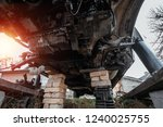 bottom of the disassembled car  ... | Shutterstock . vector #1240025755