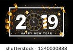 new year typographical creative ... | Shutterstock .eps vector #1240030888
